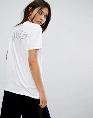 Juicy Couture Hi Lo T-Shirt with Back Logo