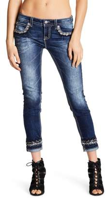 Miss Me Embellished Mid Rise Skinny Jeans