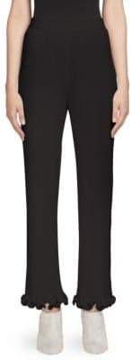 Givenchy Pleated Ribbed Ruffle Trousers