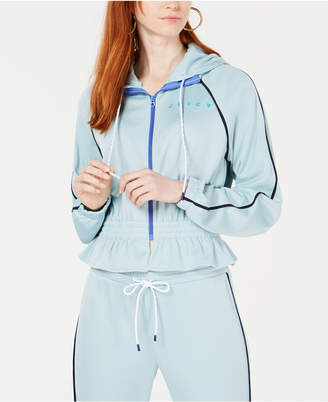 Juicy Couture Cinched-Waist Piped Track Jacket