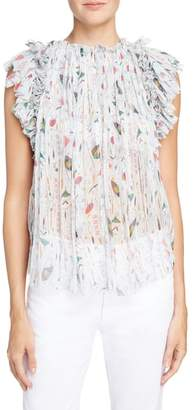 Etoile Isabel Marant Erell Print Silk Top