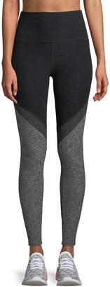 Beyond Yoga Tri-Panel Space-Dye High-Waist Midi Legging