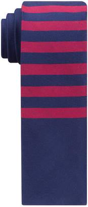 Tommy Hilfiger Men's Satin Horizontal Stripe Slim Silk Tie