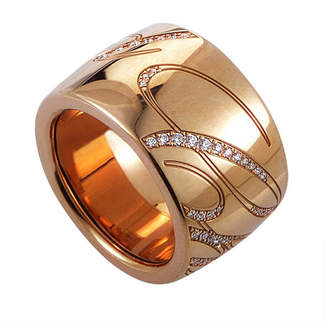 Chopard 18K Rose Gold 0.35 Ct. Tw. Diamond Ring