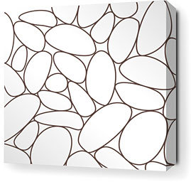Inhabit River Rock Stretched Canvas