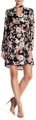 Bobeau B Collection by Front Cutout Floral Print Dress
