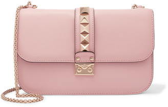 Valentino - Lock Medium Leather Shoulder Bag - Baby pink $2,345 thestylecure.com