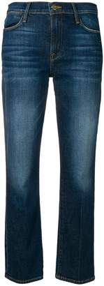 Frame straight leg cropped jeans