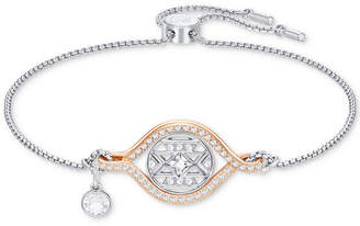 Swarovski Two-Tone Crystal Butterfly Slider Bracelet