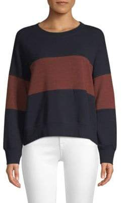 Sundry Striped Colorblock Sweater