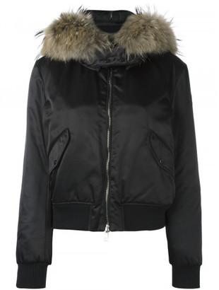 Moncler fur trim padded jacket $2,050 thestylecure.com