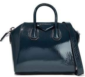Givenchy Antigona Mini Crinkled Patent-leather Tote