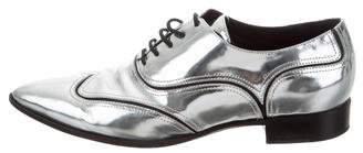 Giuseppe Zanotti Metallic Pointed-Toe Oxfords