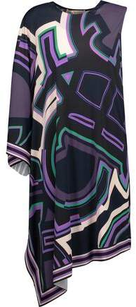 Emilio Pucci One-Shoulder Asymmetric Printed Stretch-Jersey Dress