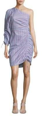 Parker Harmond Linear One-Shoulder Cotton Dress
