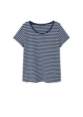 Violeta BY MANGO Striped cotton t-shirt