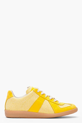Maison Martin Margiela Yellow nubuck and textile Sneakers