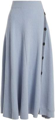 Roksanda Kaori buttoned A-line skirt