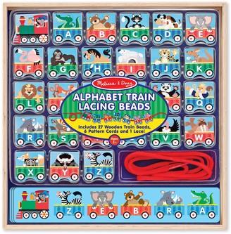 Melissa & Doug Wooden Alphabet Train Lacing Beads