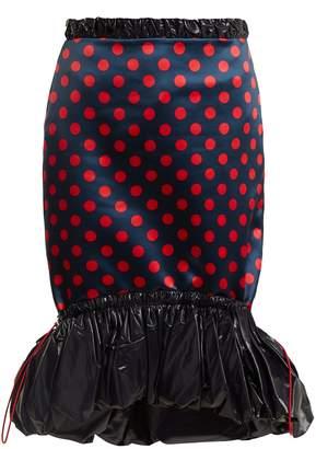 Mary Katrantzou Hazel polka-dot print satin skirt