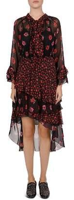 The Kooples Perseverance & Rossini Floral Silk Dress