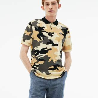 Lacoste Men's LIVE Regular Fit Camouflage Pique Polo