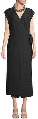 Eileen Fisher Sleeveless Wrap-Front Jumpsuit, Plus Size