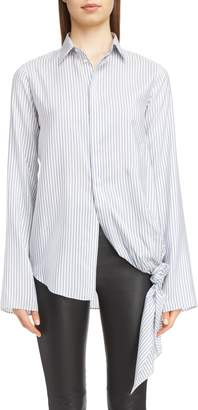 Loewe Stripe Tie Hem Silk Shirt