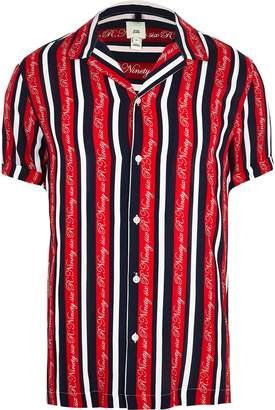 River Island Mens R96 Big and Tall Red stripe shirt
