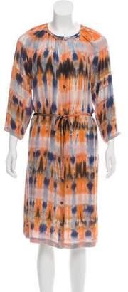 Raquel Allegra Y816845 Tie-Die Midi Dress w/ Tags