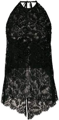 Stella McCartney sequin-embellished lace top