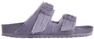 Rick Owens Birkenstock Grey Pony Hair Arizona Sandals