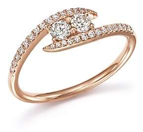 Bloomingdale's Diamond Wrap Two Stone Ring in 14K Rose Gold, .40 ct. t.w. - 100% Exclusive