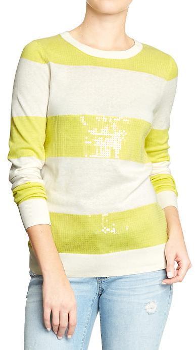 Old Navy Women's Graphic-Crew Sweaters