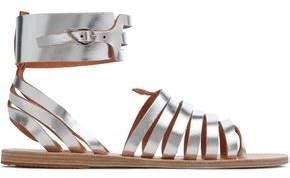 Ancient Greek Sandals Metallic Leather Sandals
