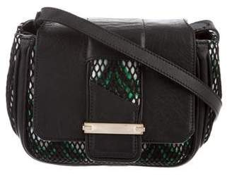 Dannijo Leather-Trimmed Crossbody Bag
