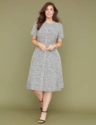 Lane Bryant Fit & Flare Dress with Fringe Seams