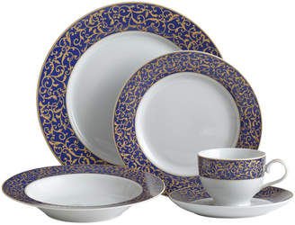 Mikasa Parchment Cobalt 20 Piece Dinnerware Set