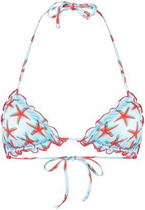 MC2 Saint Barth starfish print bikini top