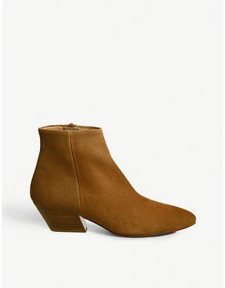 Office Atone western block heel suede boots