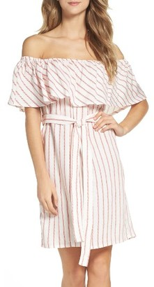 Women's Bardot Capri Off The Shoulder Dress $109 thestylecure.com