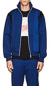 Maison Margiela Men's Satin-Trimmed Piqué Track Jacket-Blue