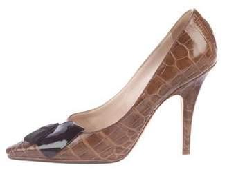 Louis Vuitton Crocodile Bow Pumps