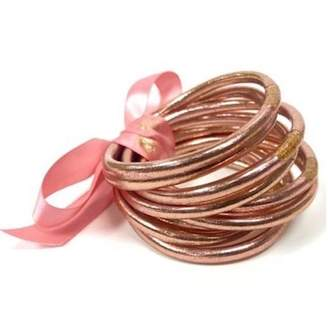 Budhagirl All Weather Serenity Bangles Rose Gold