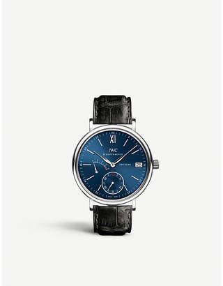 IWC IW510106 Portofino alligator-leather watch
