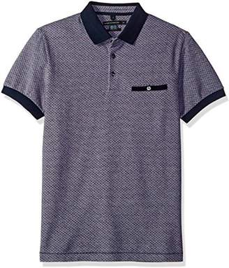 French Connection Men's Short Sleeve Regular Fit Polo with Pocket
