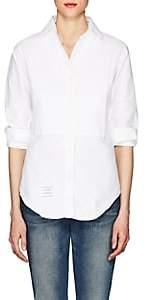 Thom Browne Women's Bibbed Cotton Piqué Dress Shirt-White