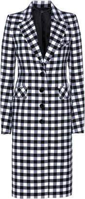 Paco Rabanne Tailored Wool Gingham Coat