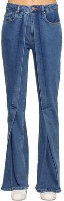 Aalto Fixed Pleats Flared Denim Jeans