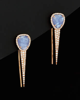 Meira T 14K Rose Gold 2.50 Ct. Tw. Diamond & Tanzanite Ear Climbers